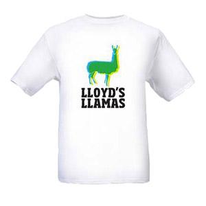 75OL-126 : Lloyd's Llamas - T-shirt