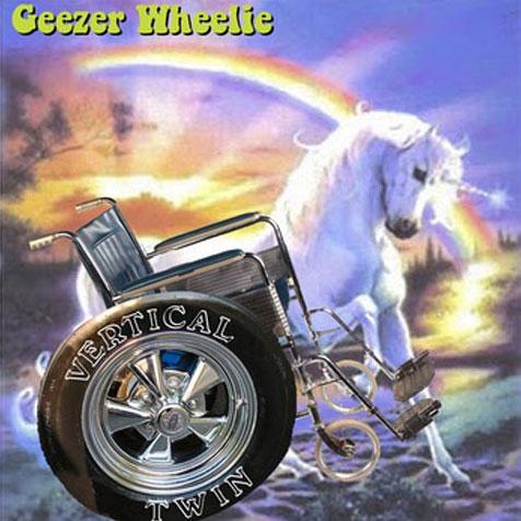 75OL-143 : Vertical Twin - Geezer Wheelie